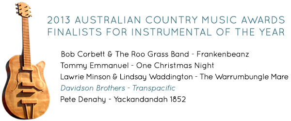 2013 Australian Country Music Awards Finalists for Instrumental of the Year