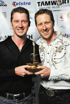 Davidson Brothers with their 2010 Golden Guitar