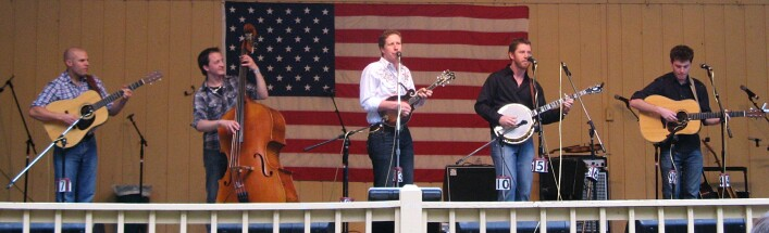 Davidson Brothers band on stage in America